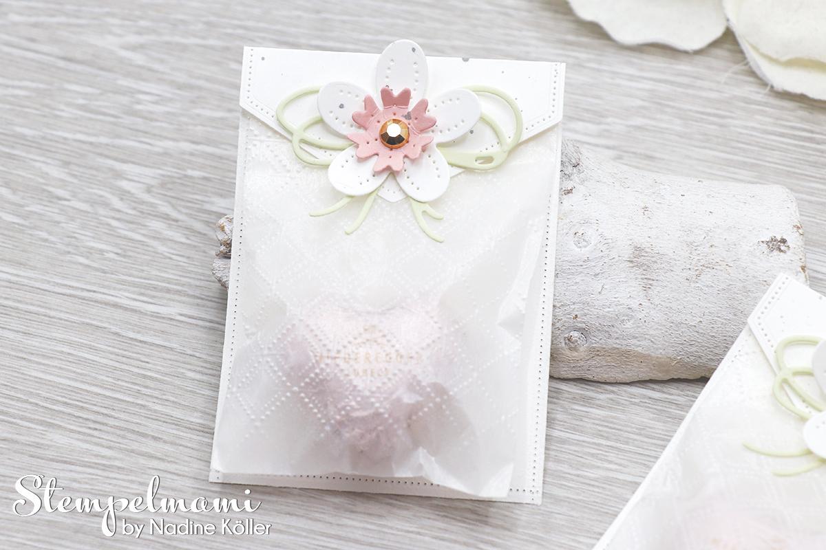 Stampin Up Herzige Goodie Tuetchen Blumen Verziert Perforierte Blumen Stempelmami 2