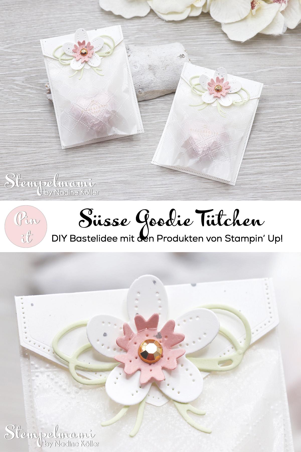 Stampin Up Herzige Goodie Tuetchen Blumen Verziert Perforierte Blumen Stempelmami 4