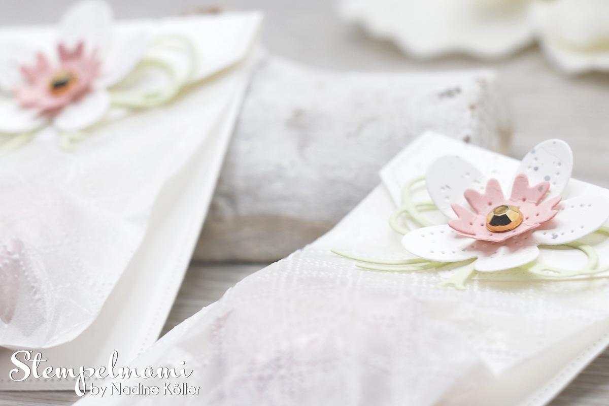 Stampin Up Herzige Goodie Tuetchen Blumen Verziert Perforierte Blumen Stempelmami