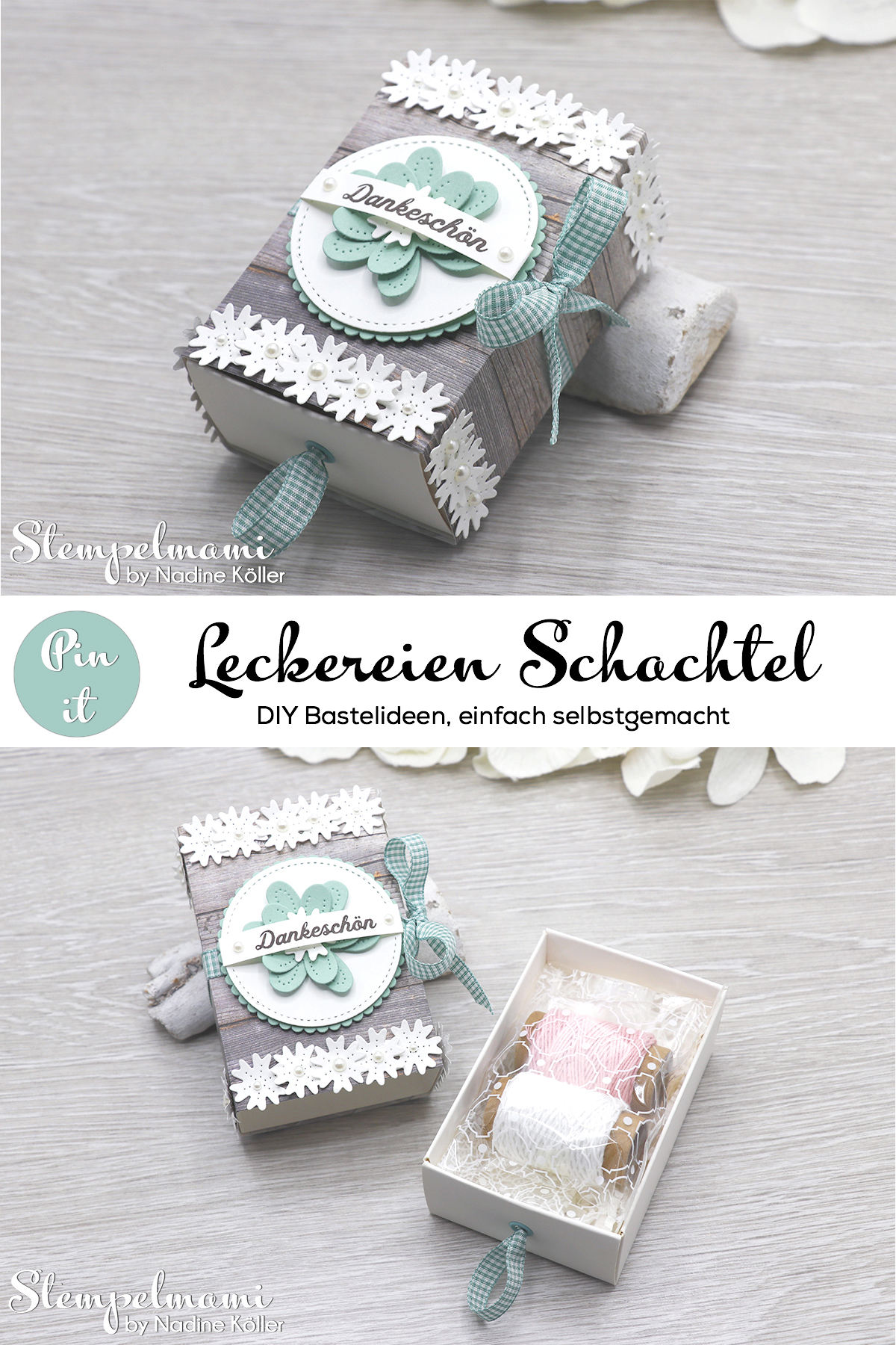 Stampin Up Leckereien Schachtel Blumen verziert Matchbox Stempelmami Instagram 9