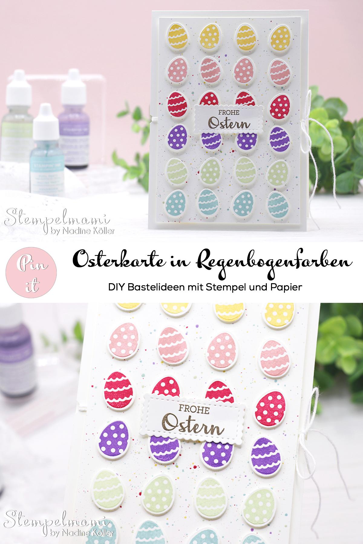 Stampin Up Osterkarte in Regenbogenfarben basteln Produktpaket Kreative Kraenze Stempelmami 3