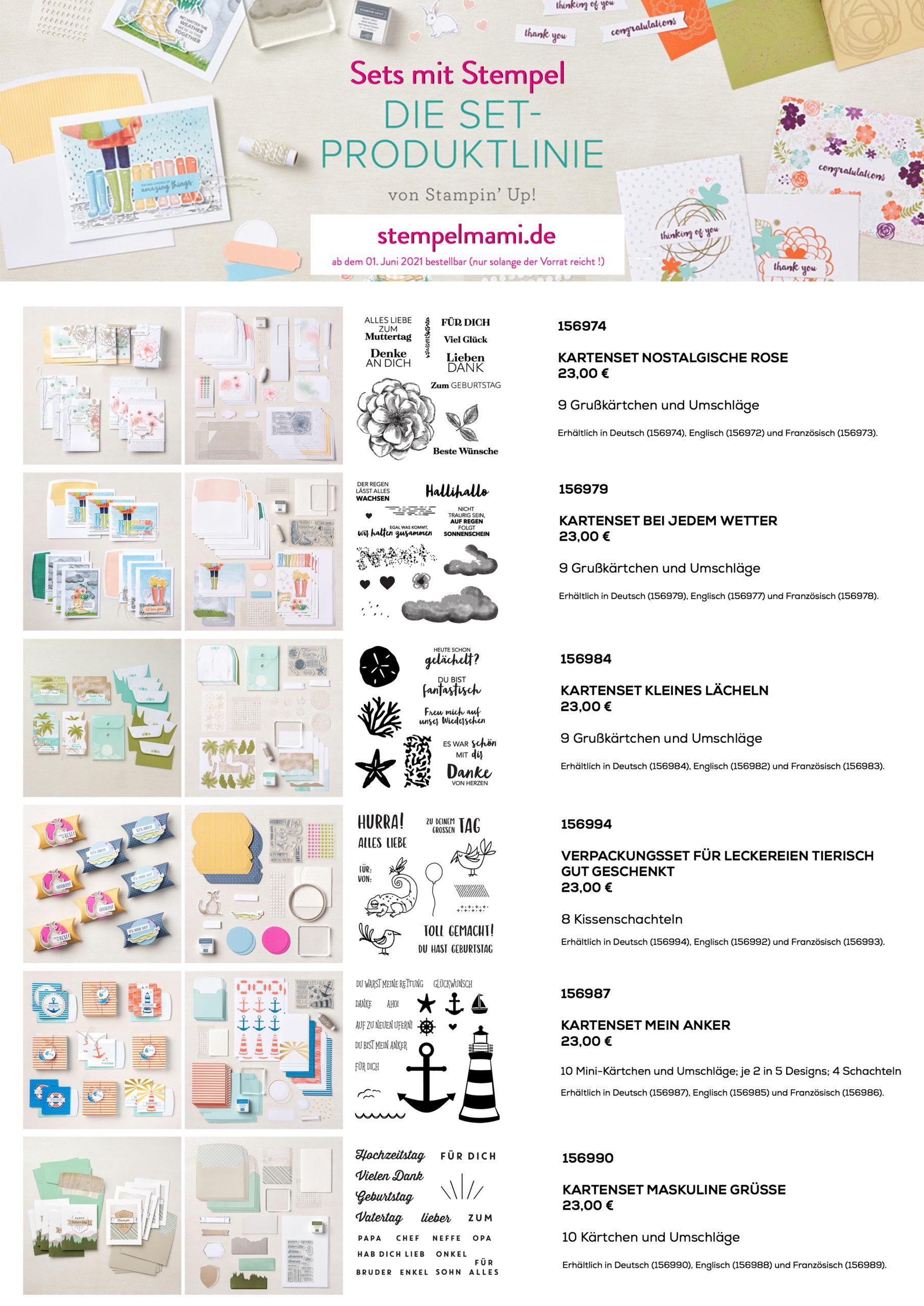 Neue Set-Produktlinie (Komplett-Sets) von Stampin Up ab Juni 2021 Stempelmami 1