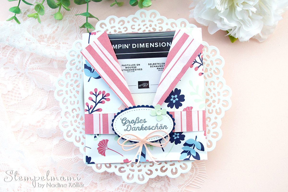 Stampin Up Video Anleitung Geschenkverpackung fuer Dimensionals Geschenk Stampin Up Online Shop Bestellung Stempelmami Youtube 3