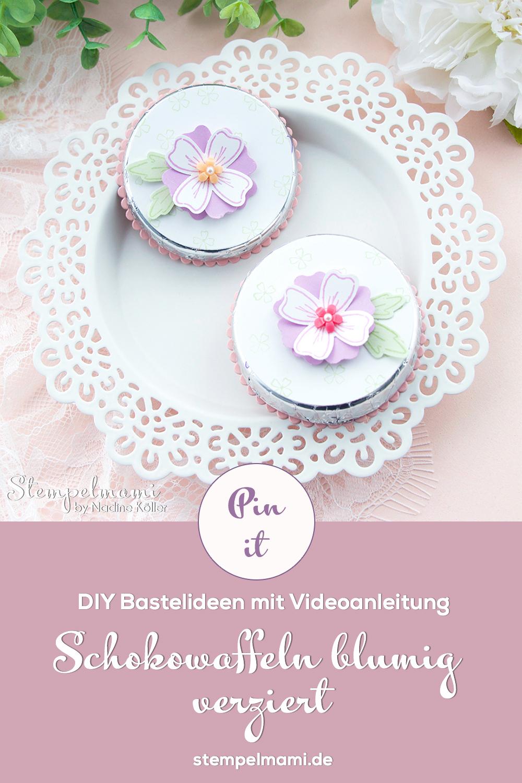 Stampin Up Video Anleitung Schokowaffel blumig verziert Idee 2 mit dem Produktpaket Freundschaftsblüten Stempelmami 8