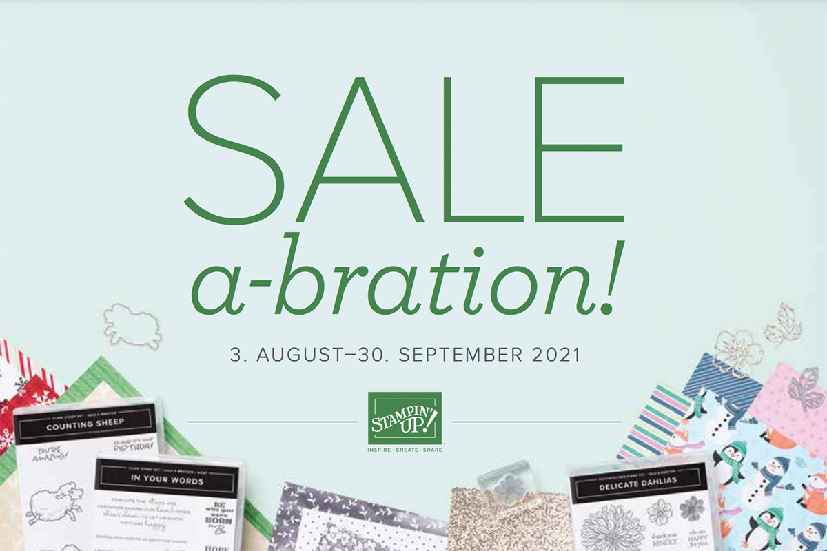 Stampin Up Sale A Bration Flyer zum Herbst Winter Minikatalog 2021