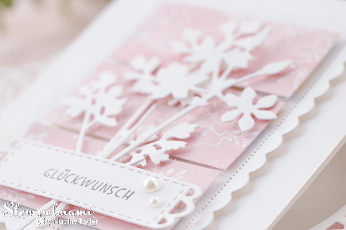 Stampin Up Geburtstagskarte aus Restepapier mit Wiesenruhe Stempelmami Geburtstagskarte basteln 1