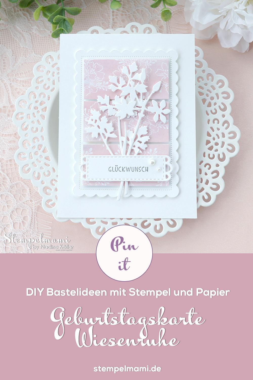 Stampin Up Geburtstagskarte aus Restepapier mit Wiesenruhe Stempelmami Geburtstagskarte basteln 3