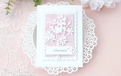Geburtstagskarte aus Restepapier mit Wiesenruhe