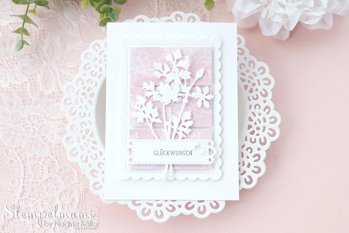 Stampin Up Geburtstagskarte aus Restepapier mit Wiesenruhe Stempelmami Geburtstagskarte basteln