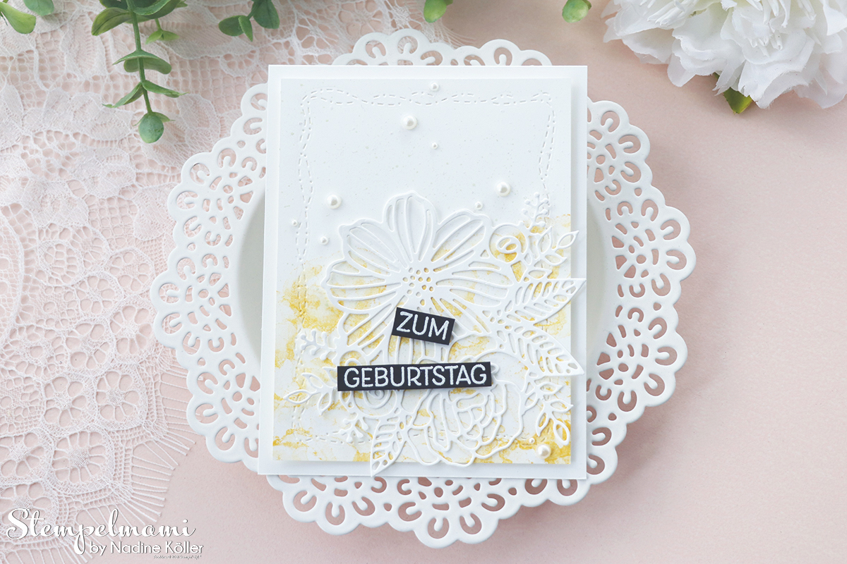 Stampin Up Geburtstagskarten kunstvoll koloriert Geburtstagskarte selber basteln Stempelmami 3