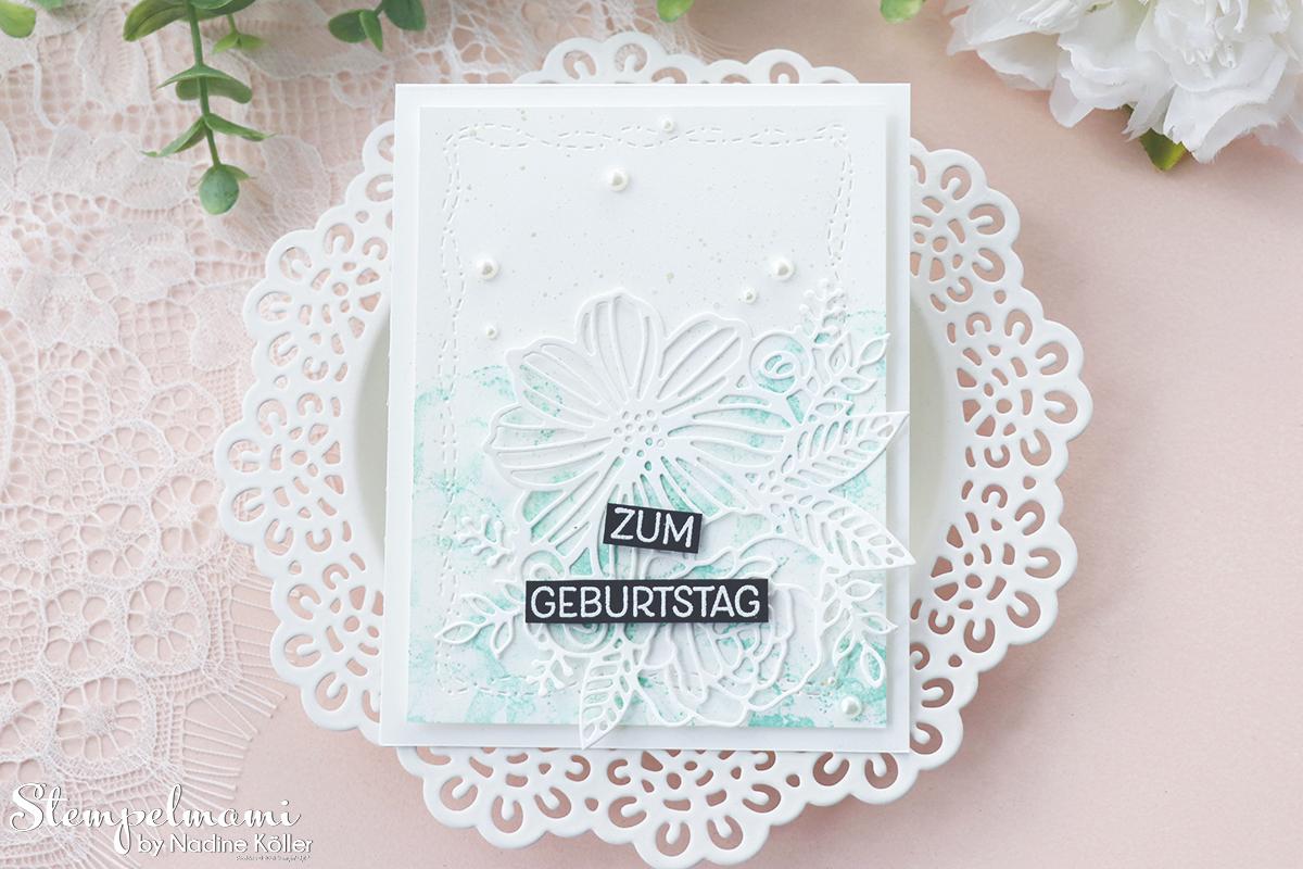 Stampin Up Geburtstagskarten kunstvoll koloriert Geburtstagskarte selber basteln Stempelmami 4