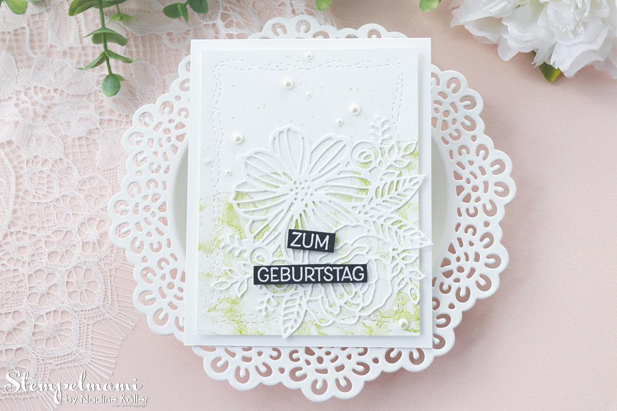 Stampin Up Geburtstagskarten kunstvoll koloriert Geburtstagskarte selber basteln Stempelmami 5