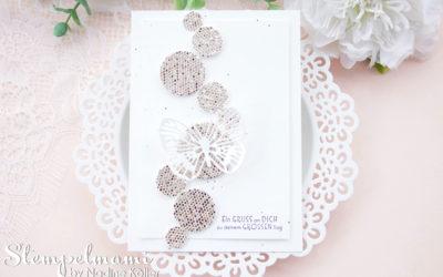 Geburtstagskarte aus Restepapier Kreisen