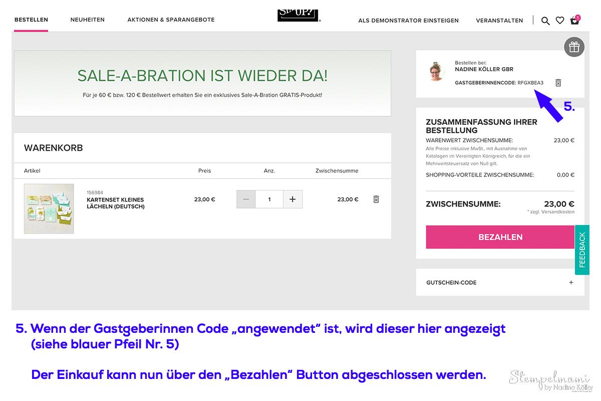Stampin Up Geschenk Online Shop Bestellung Stampin Up Produkte bestellen Stempelmami 2