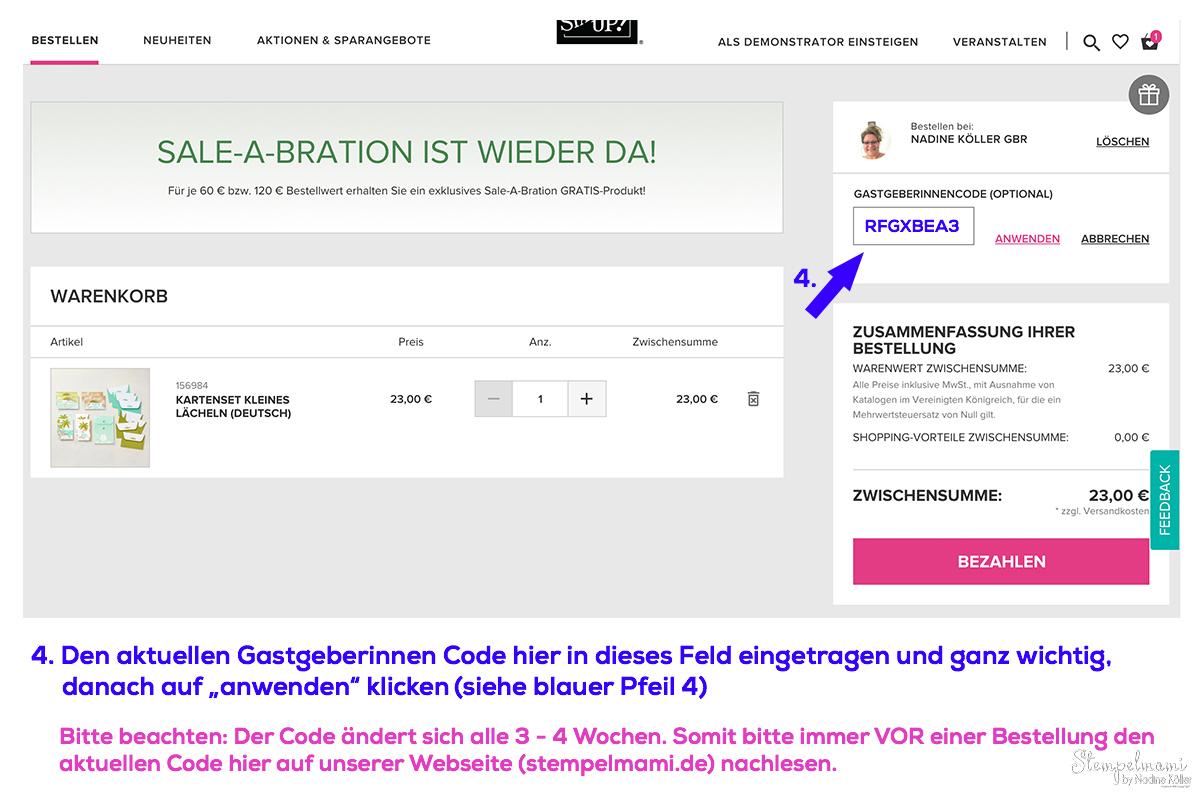Stampin Up Geschenk Online Shop Bestellung Stampin Up Produkte bestellen Stempelmami 4