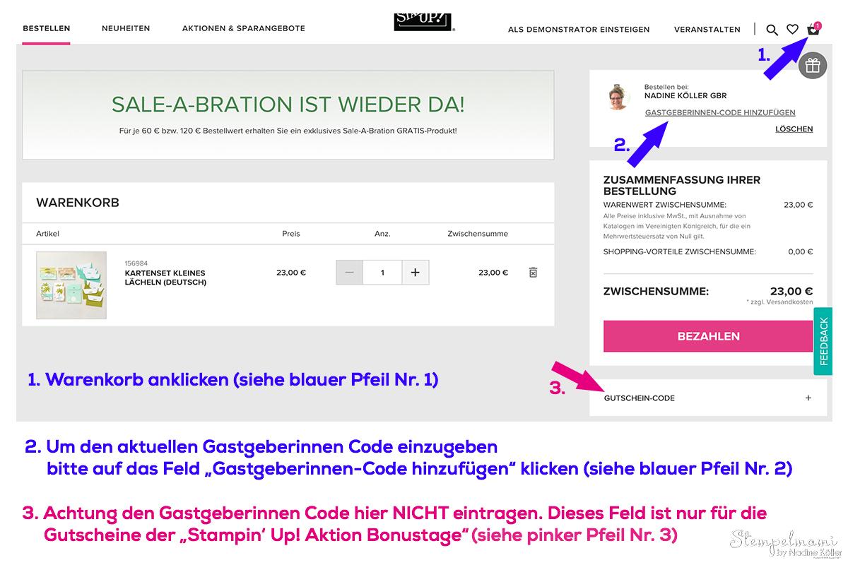 Stampin Up Geschenk Online Shop Bestellung Stampin Up Produkte bestellen Stempelmami 5