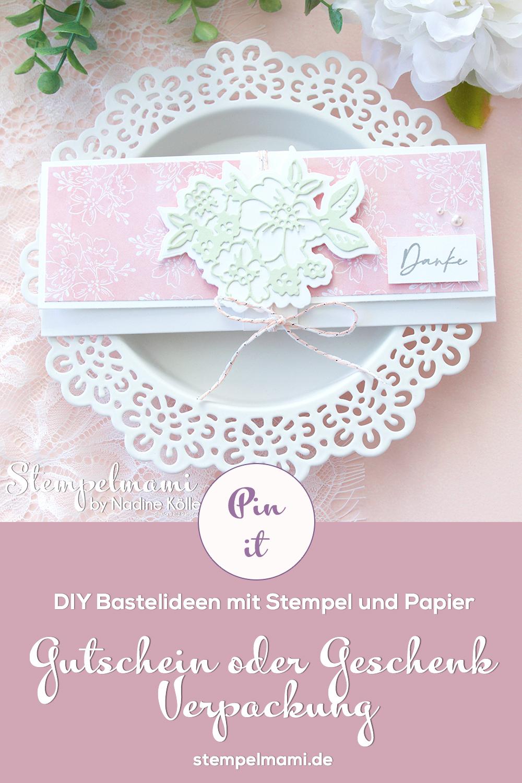 Stampin Up Gutschein Verpackung Handgemalte Blueten Papierfalter Kundengeschenk Stempelmami 4