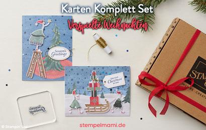 Aktion Stampin Up Karten Set Verspielte Weihnachten bestellbar Stempelmami