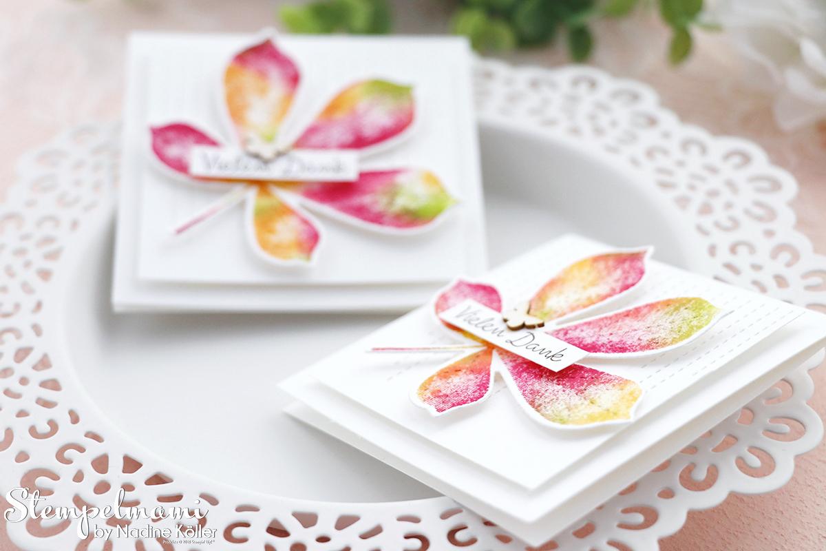Stampin Up Herbstliche Mini Dankeskarte mit der Babywipe Technik Stempelmami Wunderbare Blaetter 3