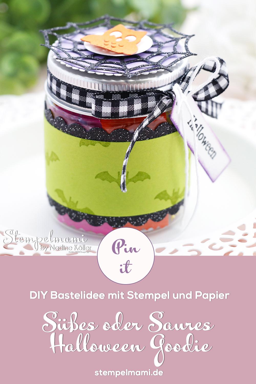Stampin Up Mini Marmeladenglas als Goodie zu Halloween Frightfully Cute Stempelmami 4