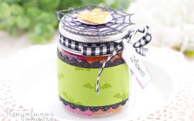 Mini Marmeladenglas als Goodie zu Halloween