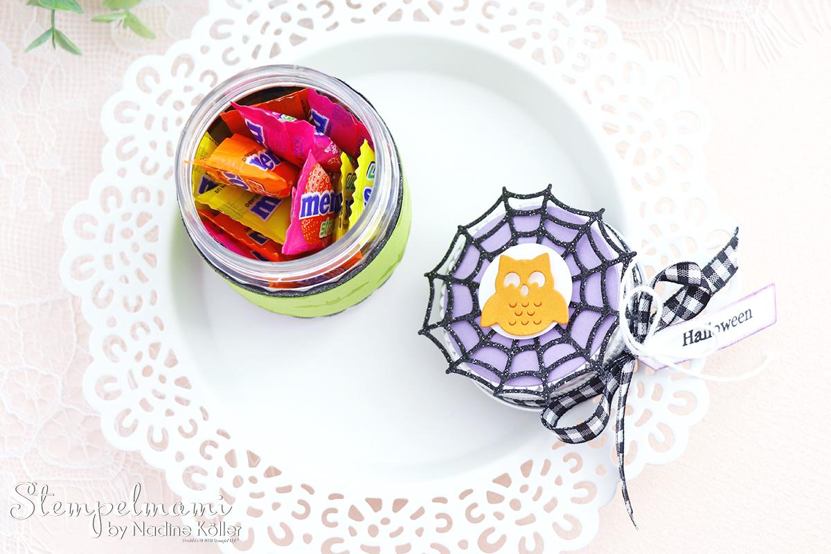 Stampin Up Mini Marmeladenglas als Goodie zu Halloween Frightfully Cute Stempelmami 8