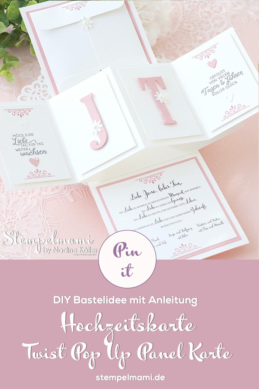 Stampin Up Twist Pop Up Panel Hochzeitskarte basteln Kleines Hichzeitsgeschenk selber basteln Stempelmami 1