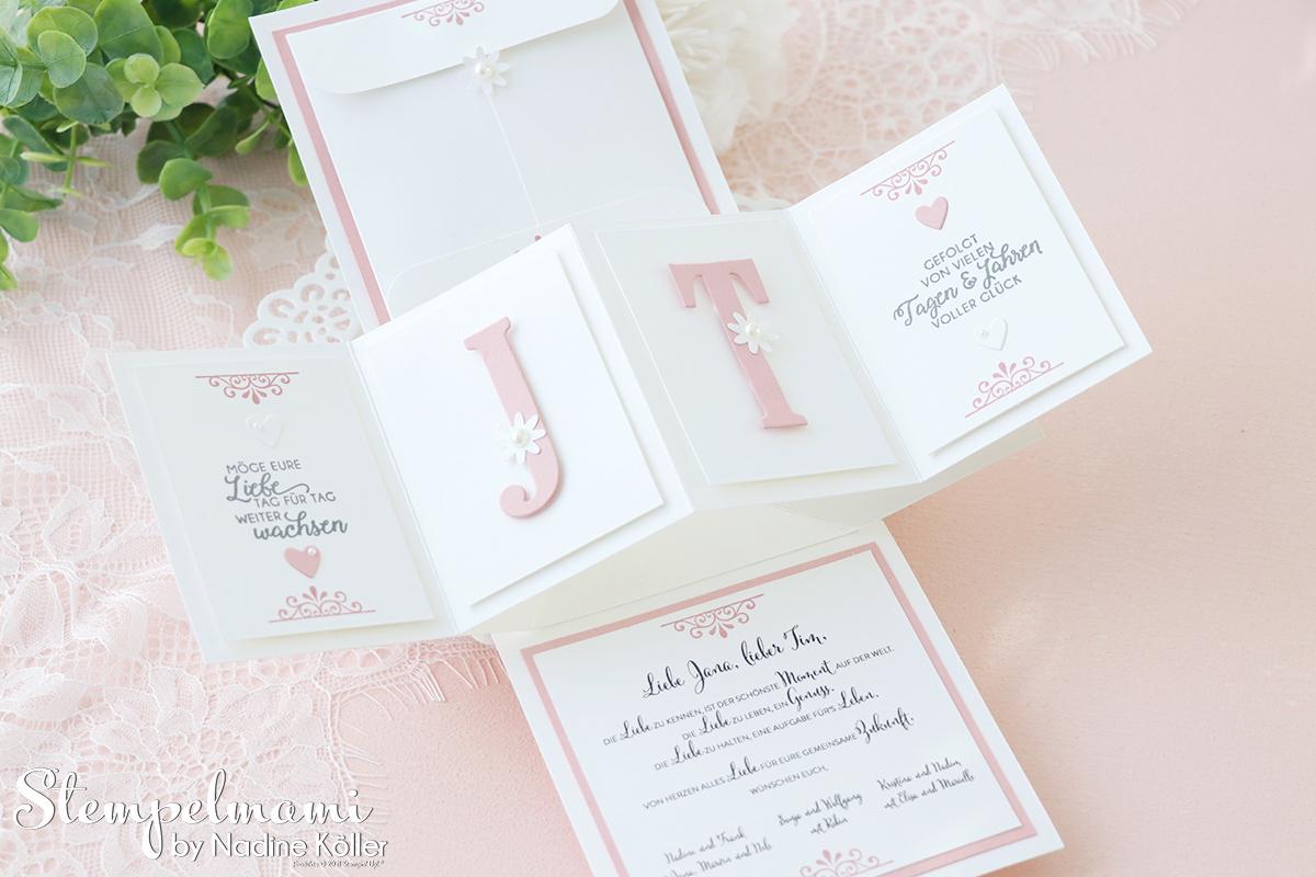 Stampin Up Twist Pop Up Panel Hochzeitskarte basteln Stempelmami 3