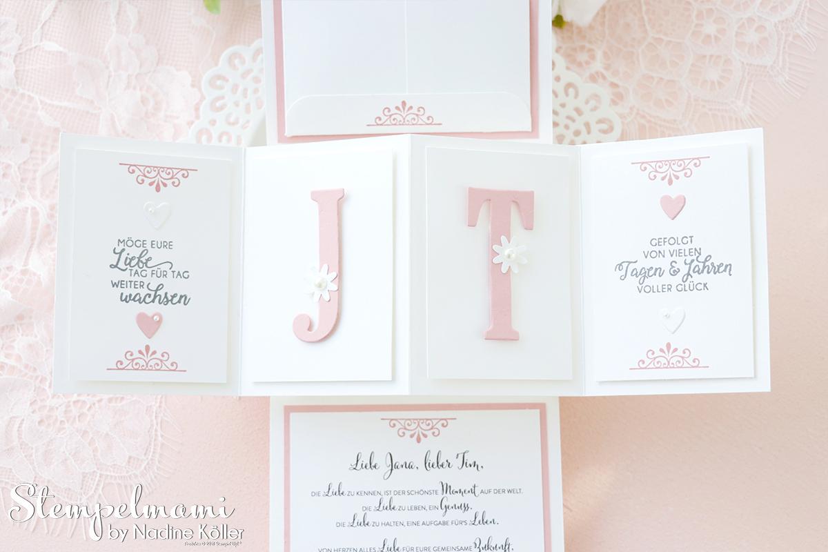 Stampin Up Twist Pop Up Panel Hochzeitskarte basteln Stempelmami 6
