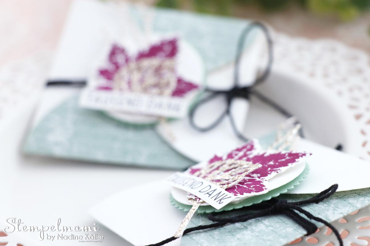 Stampin Up Video Anleitung Herbstlicher Briefumschlag aus Kreisen Produktpaket Gorgeous Leaves Stanzformen Blaetterfantasie Stempelmami Youtube