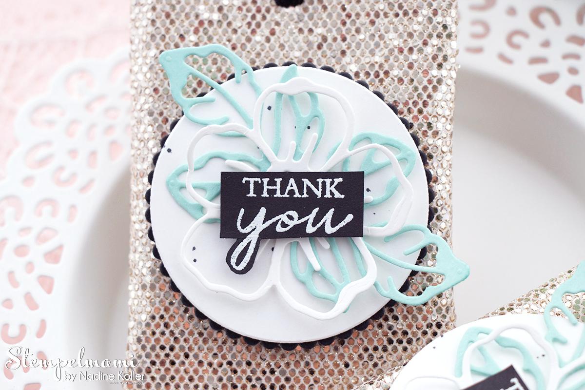 Stampin Up Videoanleitung Kleines Goodie zur Reste Papierverwertung Spezialpapier Glamour Stempelmami Instagram 6