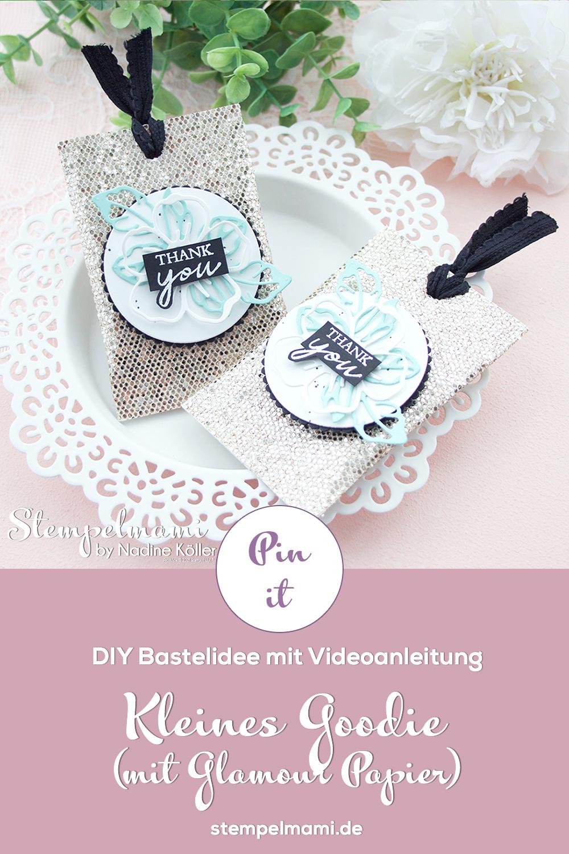 Stampin Up Videoanleitung Kleines Goodie zur Reste Papierverwertung Spezialpapier Glamour Stempelmami Instagram 8