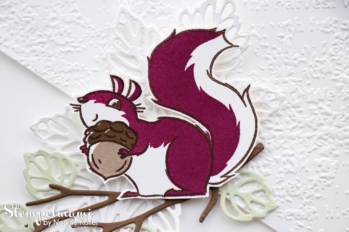 Stampin Up Geburtstagskarte mit Nuts about squirrels Stanzformen Blaetterfantasie Stempelmami 4